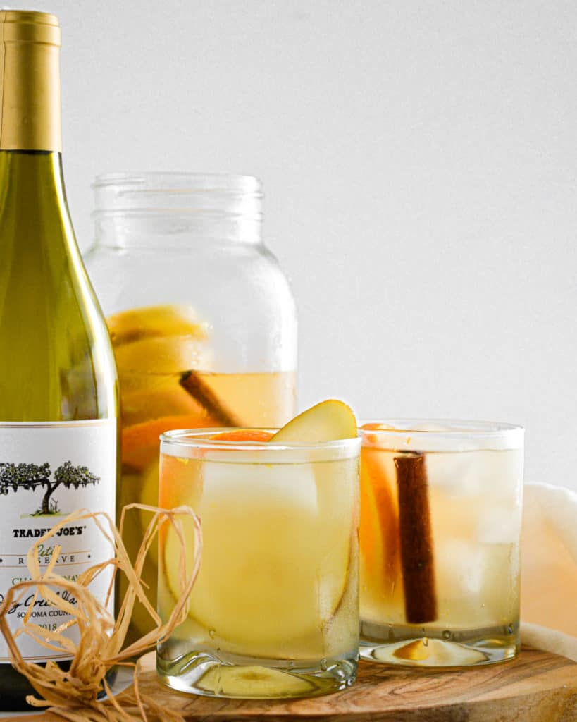 white wine sangria,fall,sangria