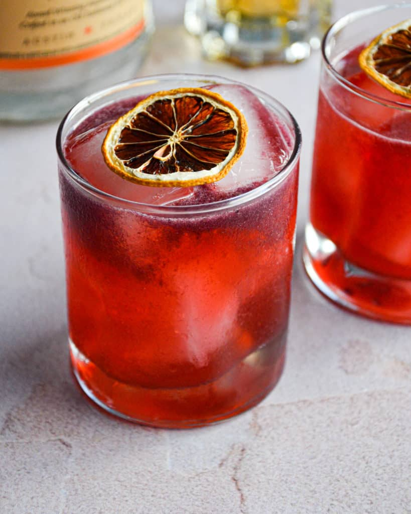 Blackberry Vodka & Elderflower Cocktail