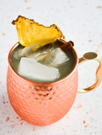 Fall Spiced Pineapple Moscow Mule