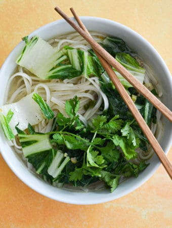 Ginger-Scallion Broth with Noodles