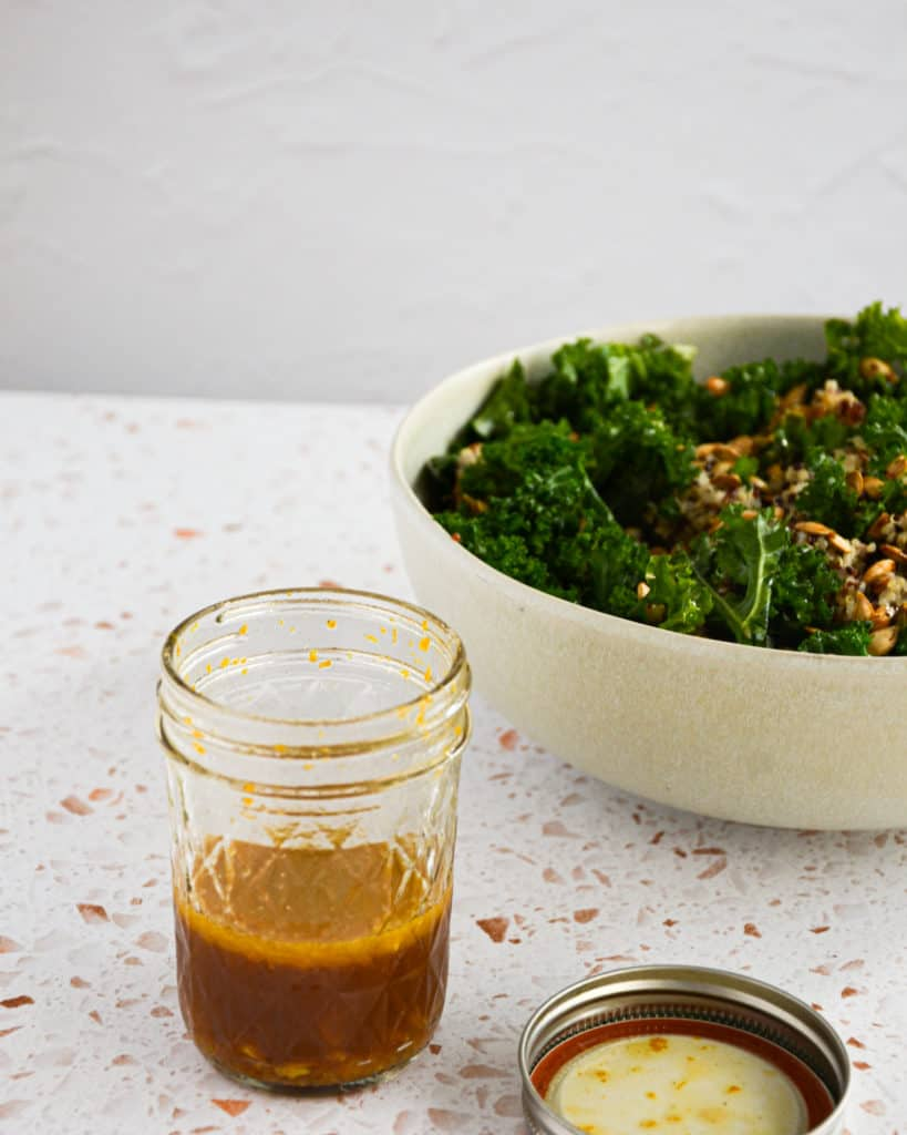 Kale Quinoa Salad with Orange Ginger Dressing