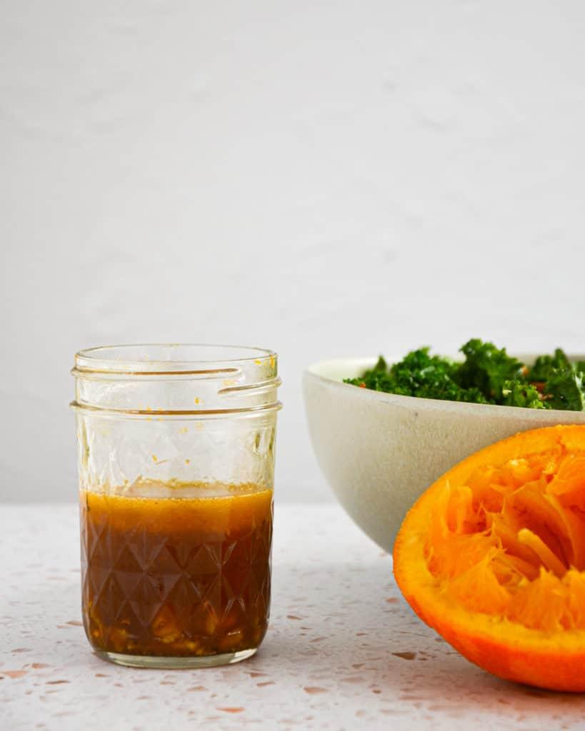 orange ginger dressing,kale quinoa salad