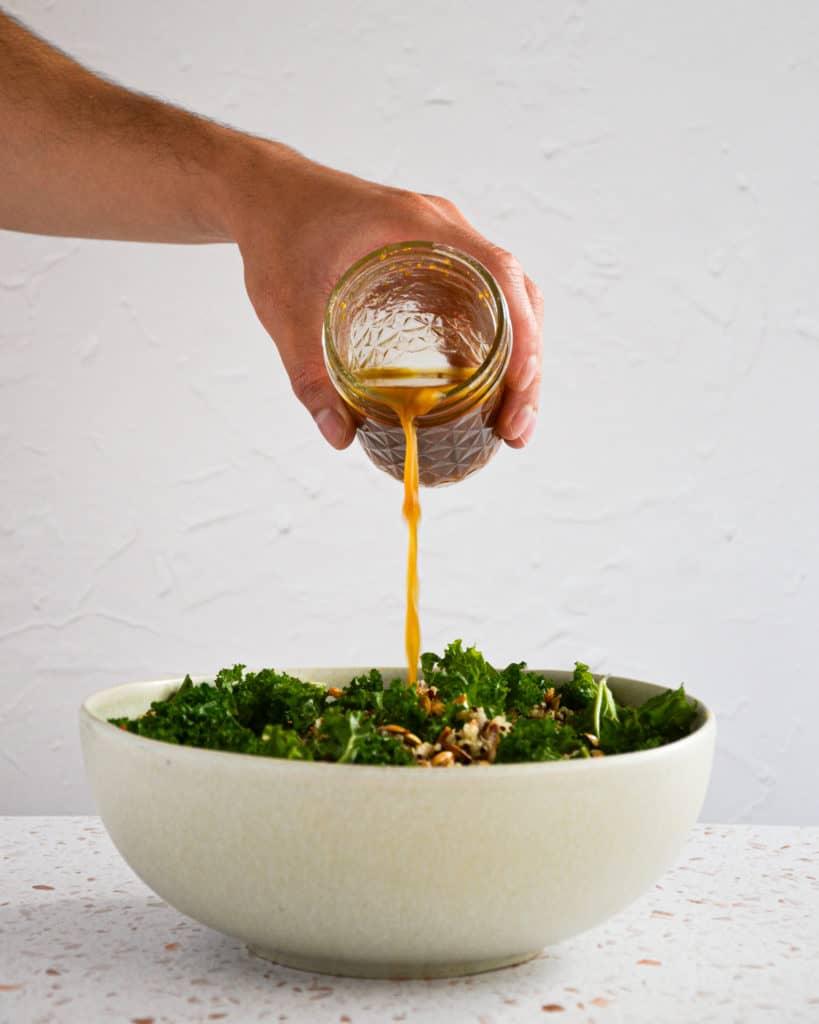 Kale Quinoa Salad w Orange Ginger Dressing