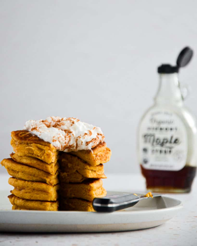 Pumpkin Protein Pancakes Open