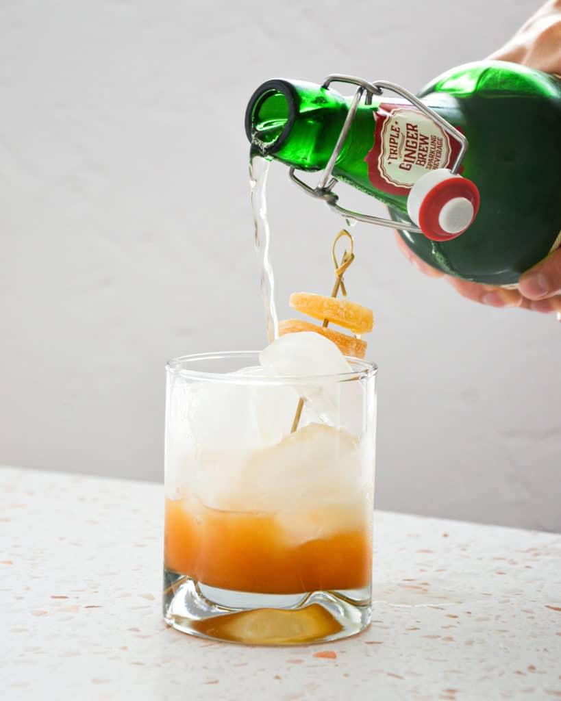 mocktail,ginger,pineapple,non-alcoholic,ginger beer