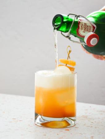 Spicy Cinnamon Pineapple & Ginger Mocktail