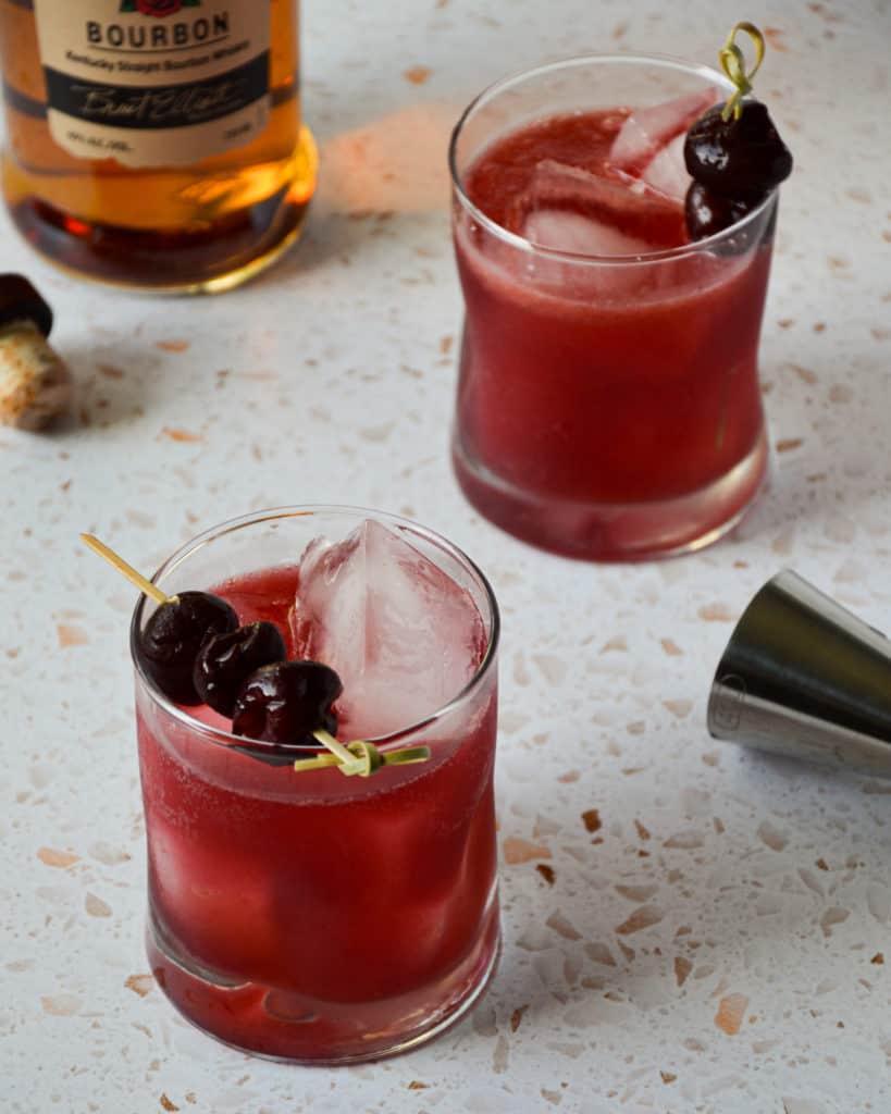 Cherry Bourbon Smash 45