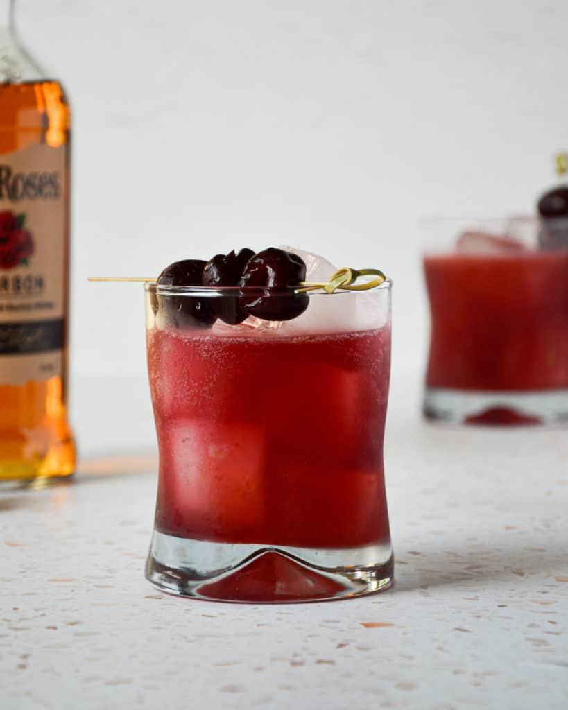 Cherry Bourbon Smash Straight On
