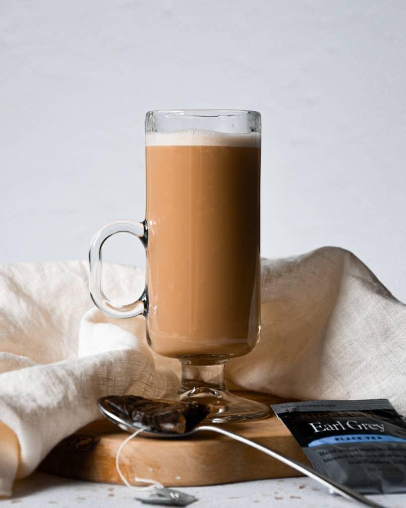 Dairy-Free London Fog Tea Latte with tea bag