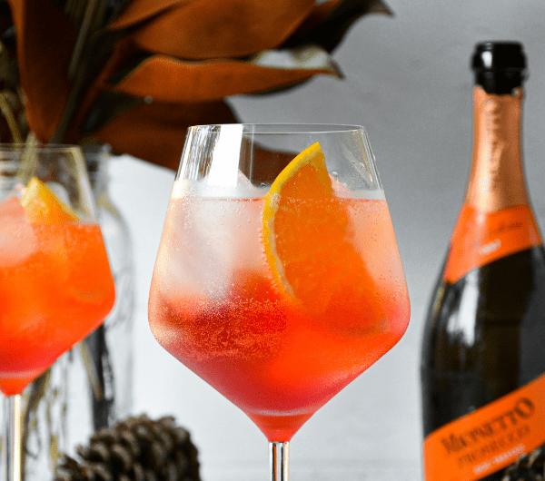 Spiced Orange & Cranberry Winter Aperol Spritz