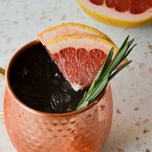 Winter Rosemary Grapefruit Moscow Mule