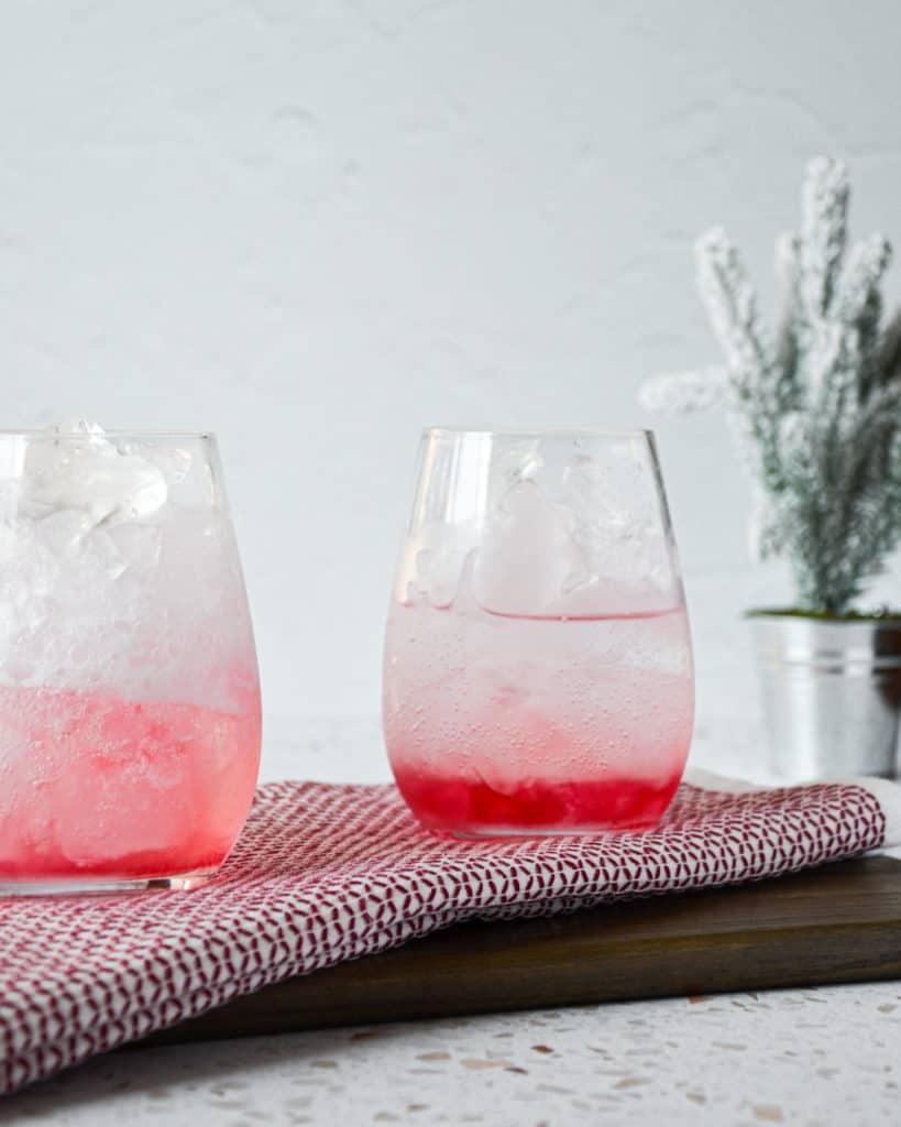 Homemade, All-Natural Cranberry Soda