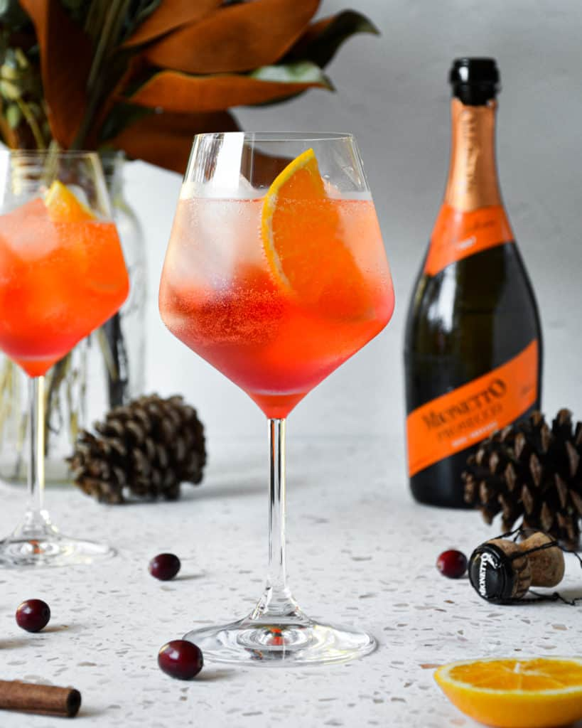 Spiced Orange & Cranberry Winter Aperol Spritz