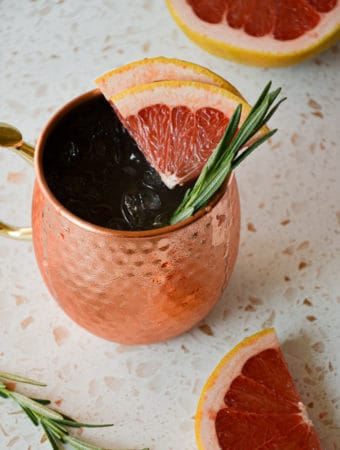 Winter Grapefruit Moscow Mule