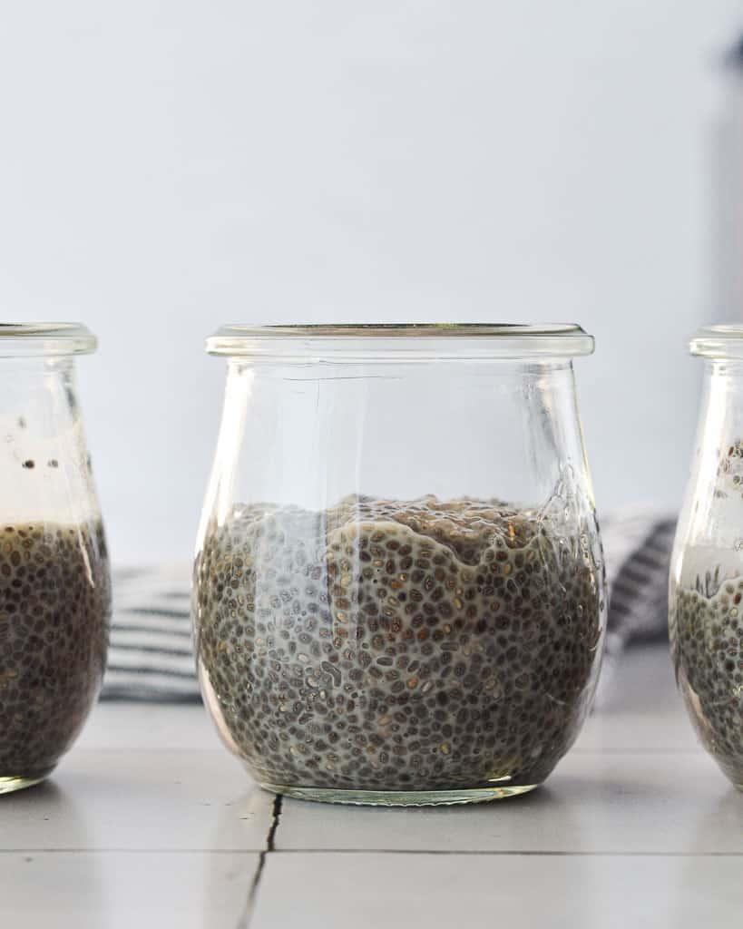 Basic 3 Ingredient Chia Pudding - 3 together