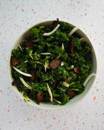 Kale, Shaved Fennel and Dried Fig Salad