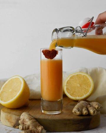 Lemon Ginger Cayenne Immunity Shots