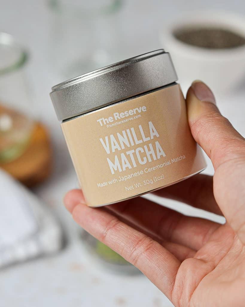 Matcha Chia Seed Pudding - vanilla matcha