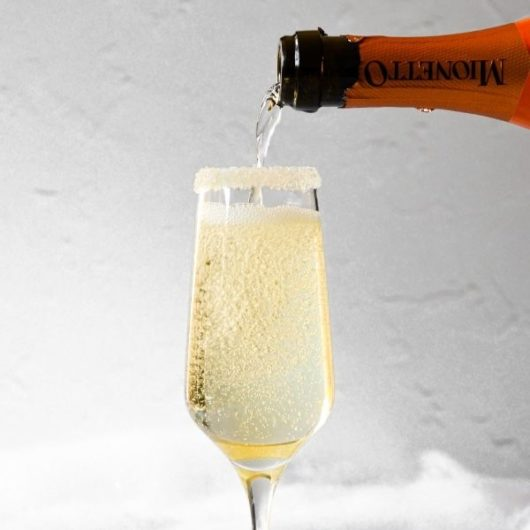 Holiday Elderflower Prosecco Cocktail