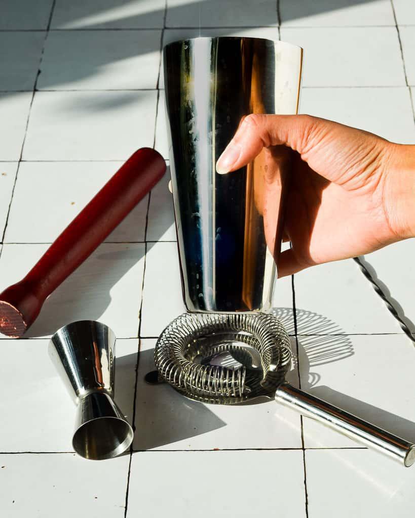 Essentials for an At-Home Bar Cart - shaker