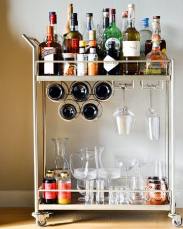 Essentials for an At-Home Bar Cart