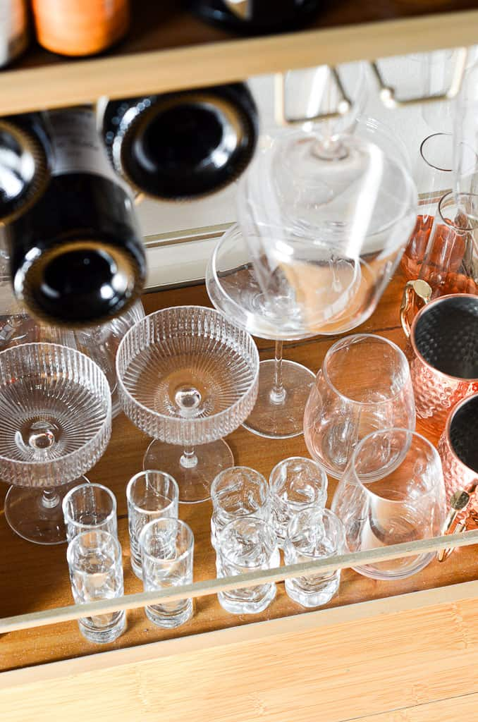 Essentials for an At-Home Bar Cart - glasses