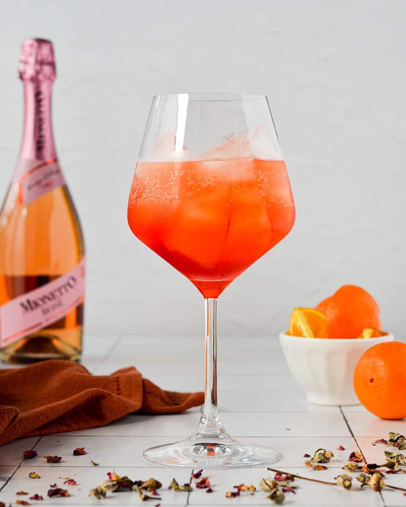 Sparkling Rosé Aperol Spritz - rosé and aperol