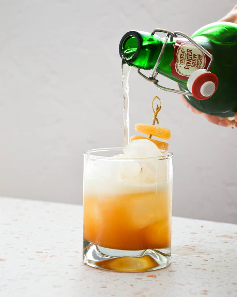 Spicy Pineapple Cinnamon Juice w Ginger Beer Pour 5 819x1024 - Work With Me