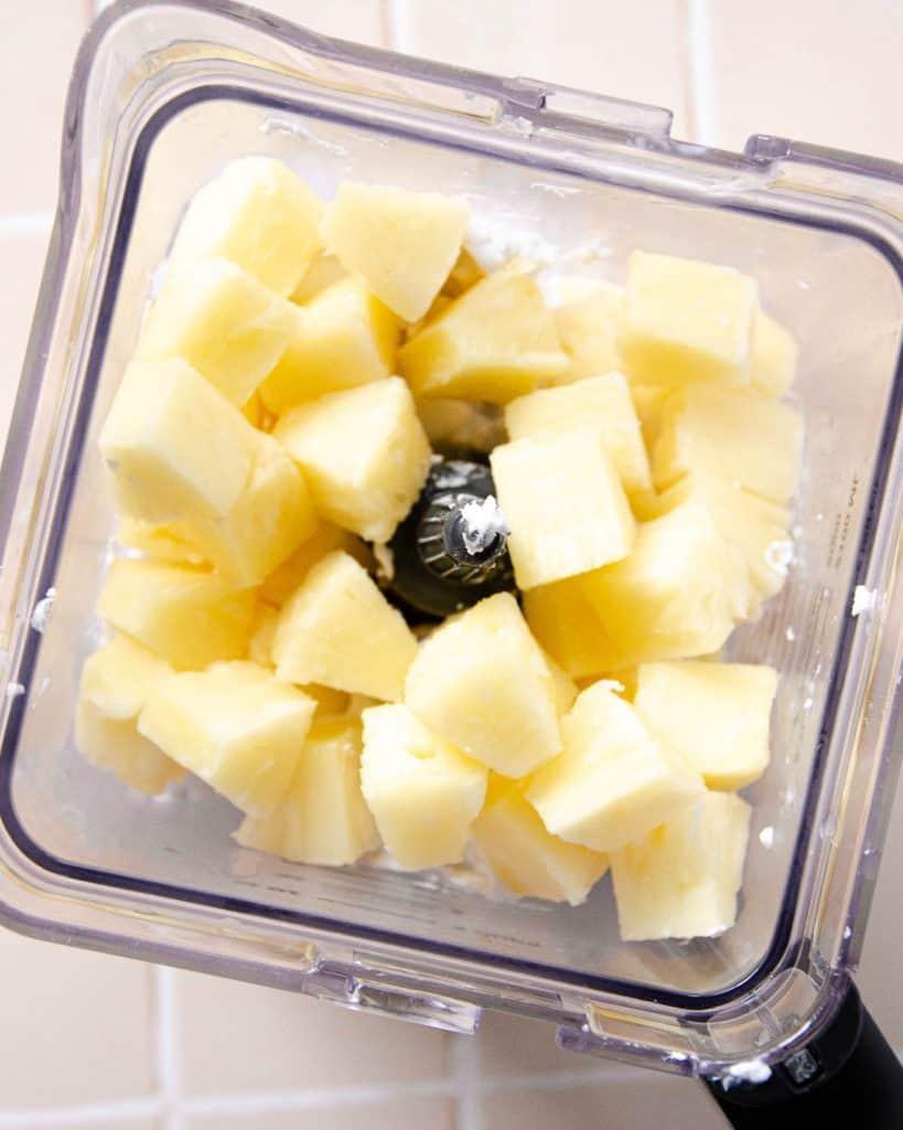 coconut pineapple ice cream,coconut pineapple,pineapple ice cream,vegan ice cream,no-churn